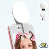 Aro de luz para selfies con clip para celulares - Blanco al mejor precio solo en loi