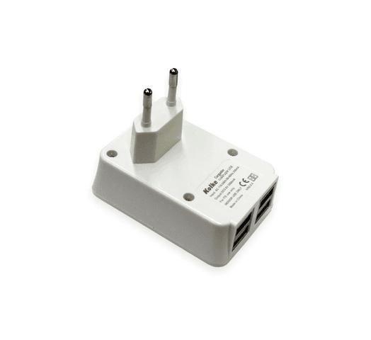 Cargador de pared USB 4 en 1 para dispositivos 4