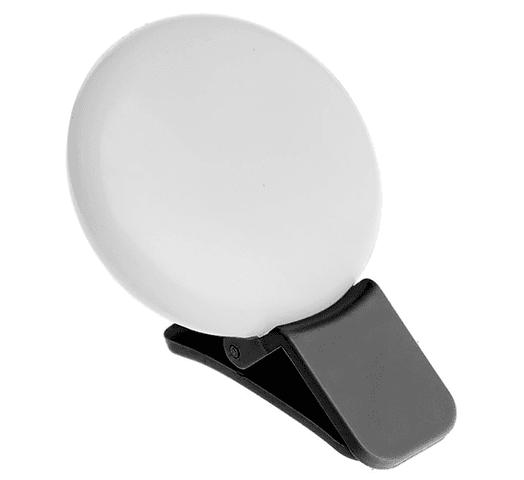 Aro de luz para selfies con clip para celulares - Negro al mejor precio solo en loi